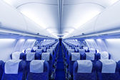 Boeing airplaine interiér prázdná — Stock fotografie