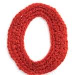 One letter of knit handmade alphabet — Stock Photo