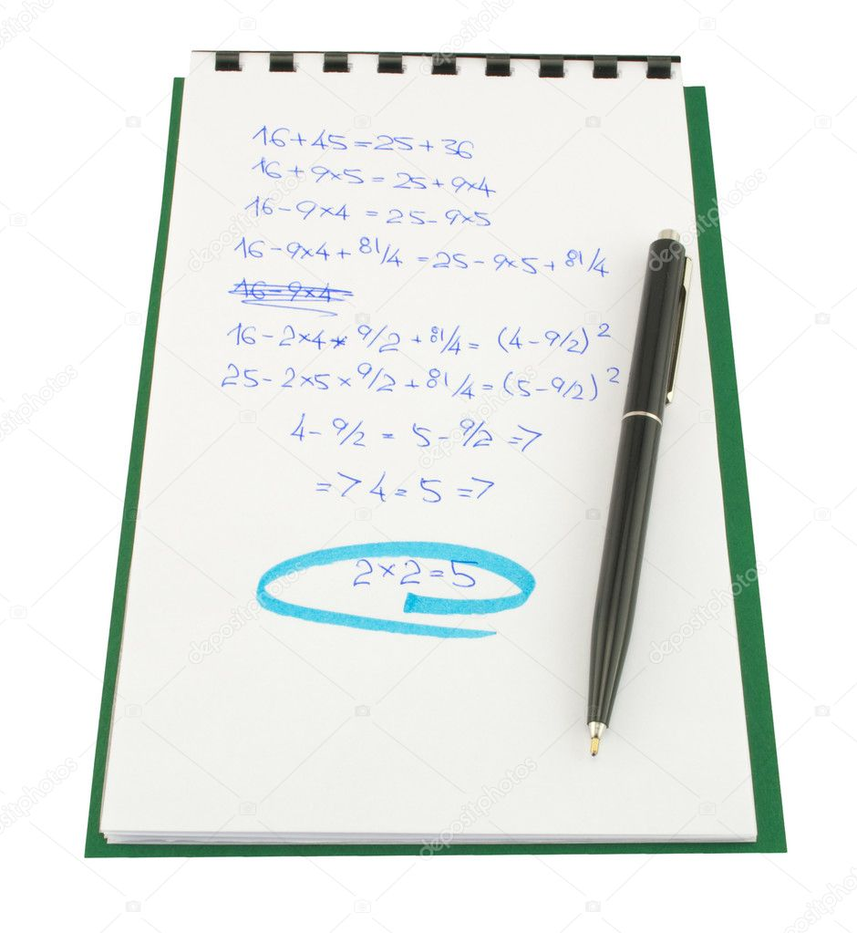 Mathematical proof 2x2=5 — Stock Photo #2143540