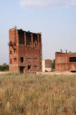Remnants of factory building of brick — Stock Photo