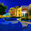 Egypt resort in night — Stock Photo