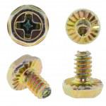 Yellow brass screw — Stock Photo #1569228