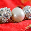 Stock Photo: Pearl beads with crystal spheres