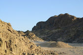 Egyptian rocky desert. — Stock Photo