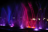 Amazing dancing fountain — Stock Photo