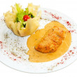 Fried salmon fish fillet — ストック写真