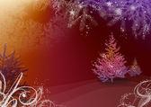 Ilustración de navidad con el árbol de abeto — Foto de Stock