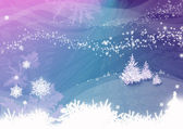 Christmas illustration with snowflake — Stock Photo