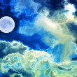 Stock Photo: Abstract moon in the sky