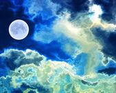Abstrakt månen på himlen — Stockfoto