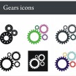 Gears icons — Stock Vector #1400641