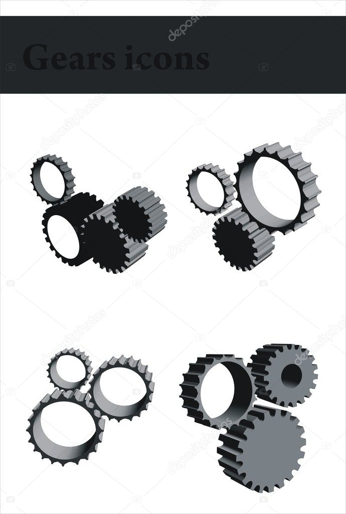 Gears icons — Stock Vector #1400638