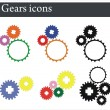 Gears icons — Stock Vector