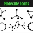Molecule icons - Stock Vector