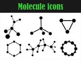 Molecule icons — Stock Vector