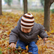 Stock Photo: Happiness child playing in forest
