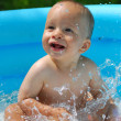 Royalty-Free Stock Photo: Baby with splashes
