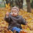 Happiness child playing in forest — Stock Photo #1293251
