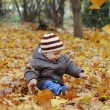Happiness child playing in forest — Stock Photo #1293258