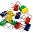 Group of binder-clips — Stock Photo