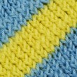 Material in blue and yellow stripes — Stock Photo #1293466