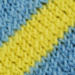 Stock Photo: Material in blue and yellow stripes