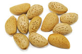 Almonds isolated on white — Stock Photo