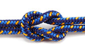 Reef knot isolated on white — Stock Photo