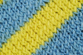Material in blue and yellow stripes — Stock Photo