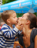 Big Love: mother and son — Stock Photo