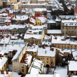 Rooftops covered with snow — Stockfoto
