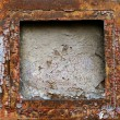 Rusty grunge metal frame background — Stock Photo #1296156