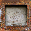 Stock Photo: Rusty grunge metal frame background