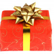 Stock Photo: Decorated gift box