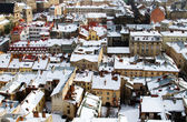 Rooftops covered with snow — Stock Photo