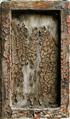 Rusty grunge metal frame background — Stock Photo