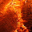 Burning hot embers of a wood fire — Stock Photo #1345370