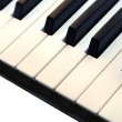 Piano keyboard closeup — Stock Photo