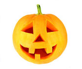 Halloween pumpkin isolated on white — Stock Photo