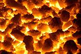 Textura de fondo de carbones brillantes — Foto de Stock
