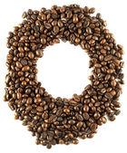 Runda stomme av kaffebönor — Stockfoto