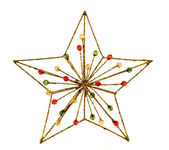 Christmas star decoration over white — Stock Photo
