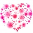 Pink lights in the shape of the heart - Stock Photo