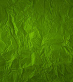 Green crumpled paper — Stock Photo
