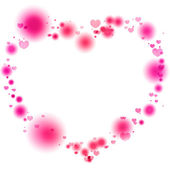 Pink lights in the shape of the heart — Stock Photo