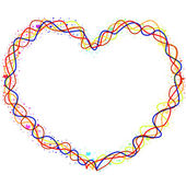 Lines in the shape of heart — Stock Photo