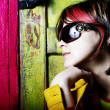 Fashion woman portrait wearing sunglasse — Stock Photo