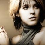 Studio Shot of Beautiful Young Girl — Stock Photo