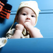 Closeup portrait of adorable baby — Stock Photo