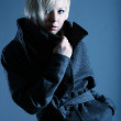 Fashion blond model with a coat — Stock Photo #2391346